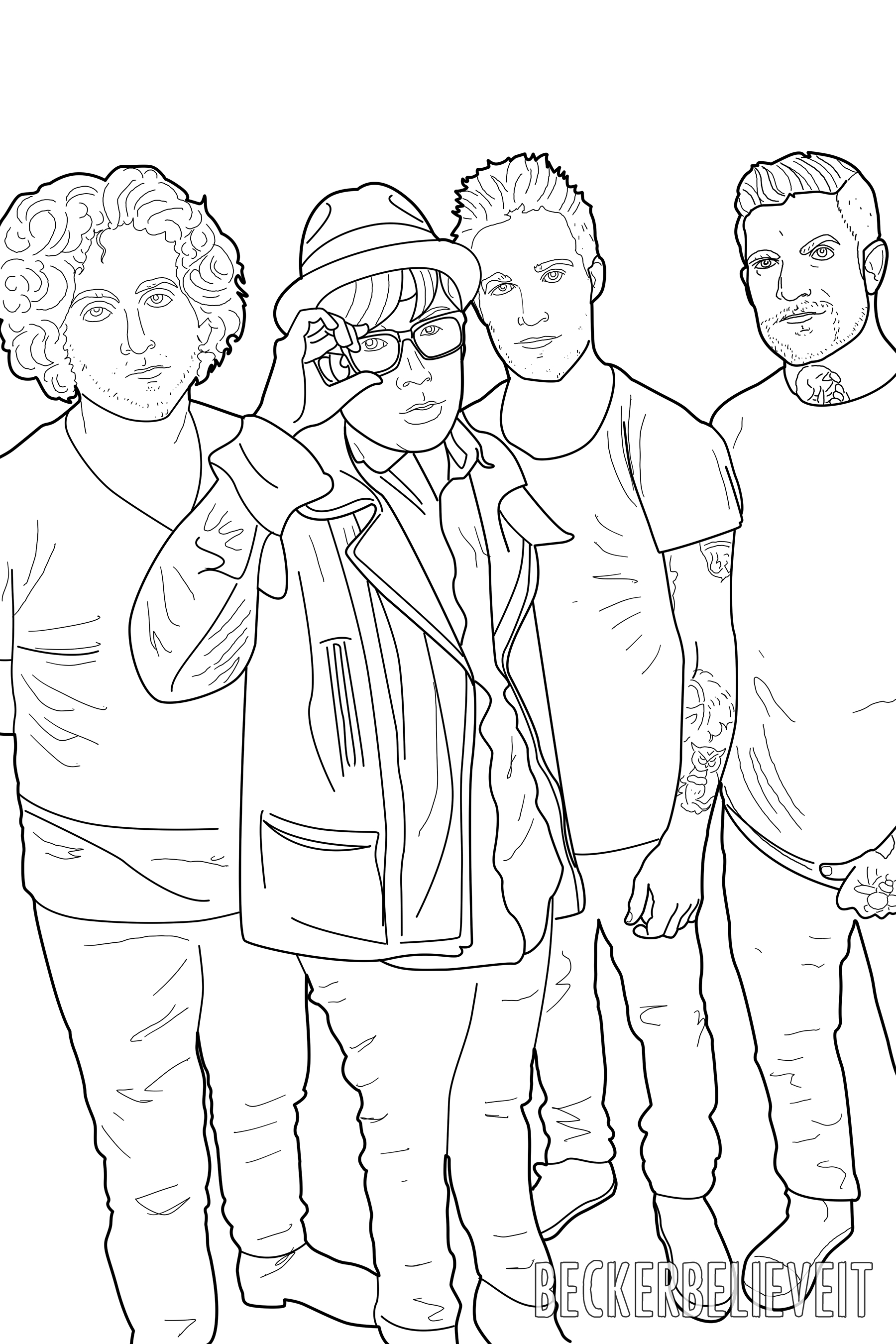 1800x2700 Here The Twenty E Pilots Fall Out Boy All Time Low Coloring