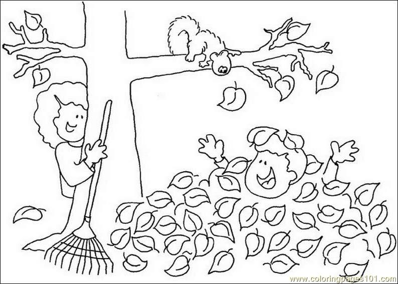 794x567 Fall Tree Leaf Coloring Page