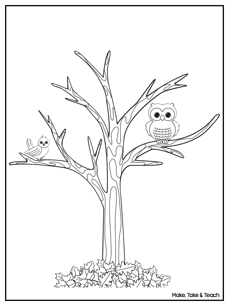 768x1024 Free Printable Tree Coloring Pages