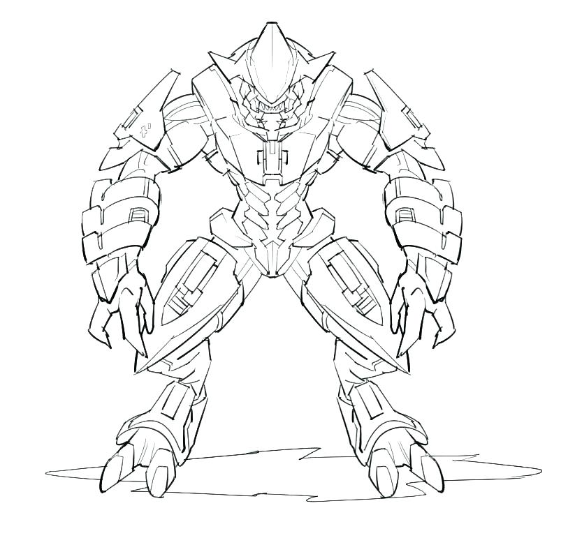 813x771 Halo Coloring Pages Halo Reach Coloring Pages Halo Coloring