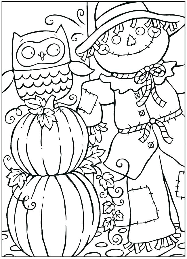 650x900 Kindergarten Fall Coloring Pages Free Printable For Kids Color