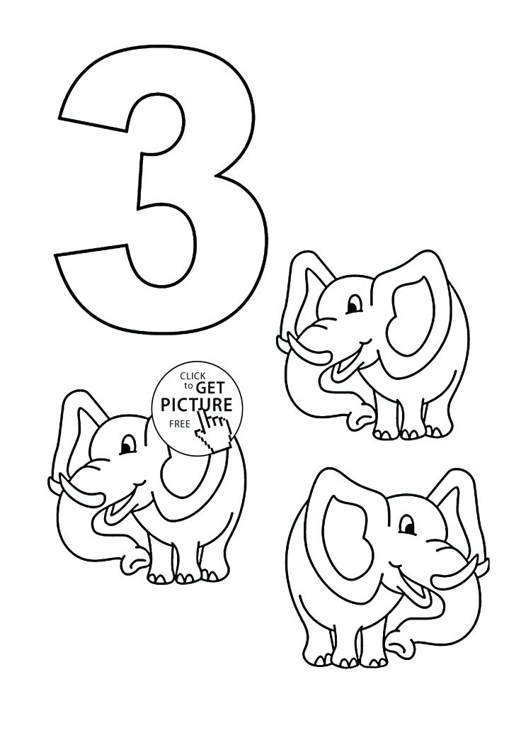 736x1034 Number Coloring Page Number Three Coloring Book Adding Three