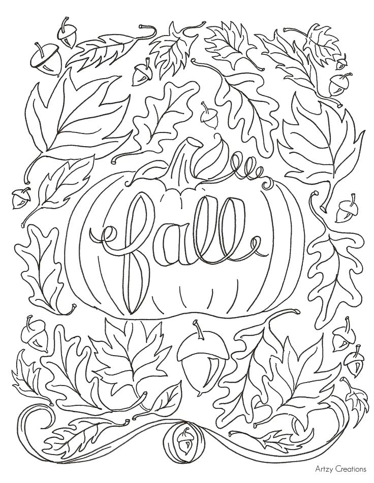 736x952 Printable Fall Coloring Pages Printable Fall Pictures To Color