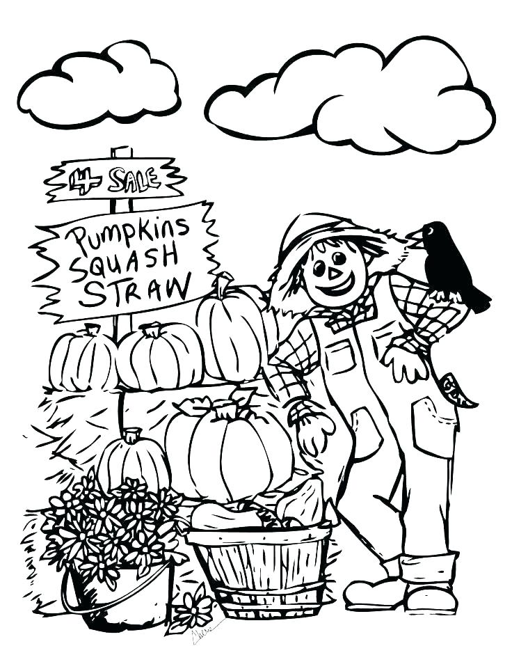 736x951 Coloring Pages Of Fall Harvest Coloring Pages Fall Harvest