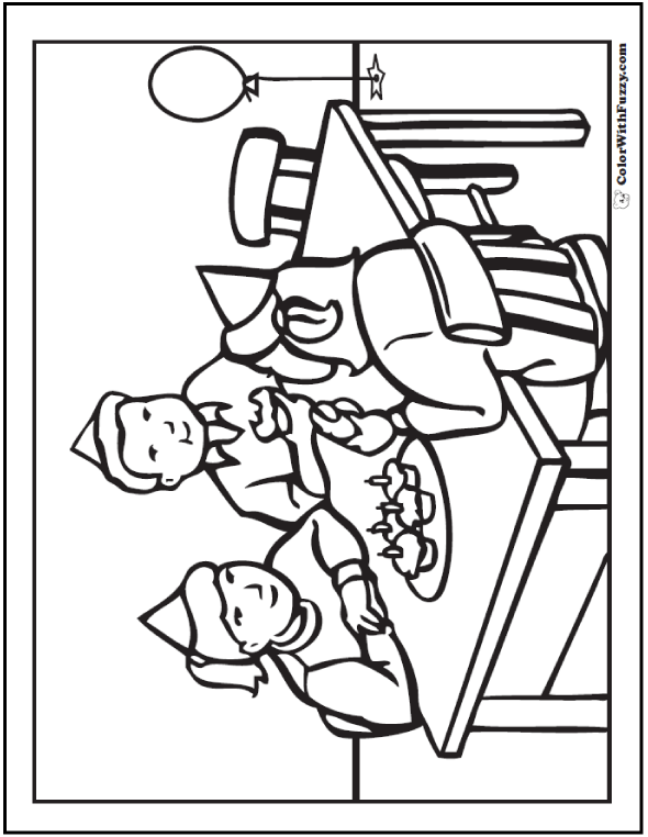 Family And Friends Coloring Pages
