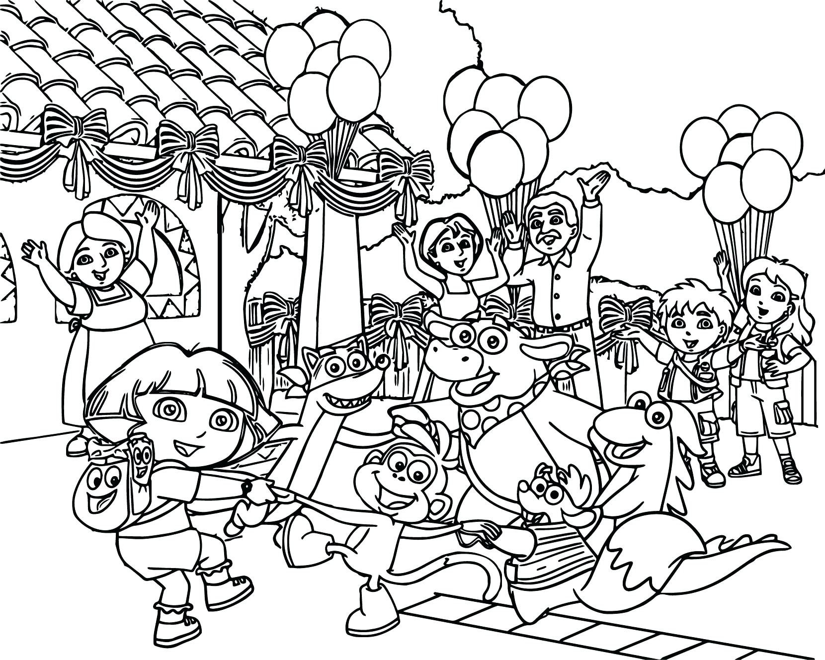 1660x1328 Dora And Friends Grown Up Coloring Pages Meet Best Page Playing