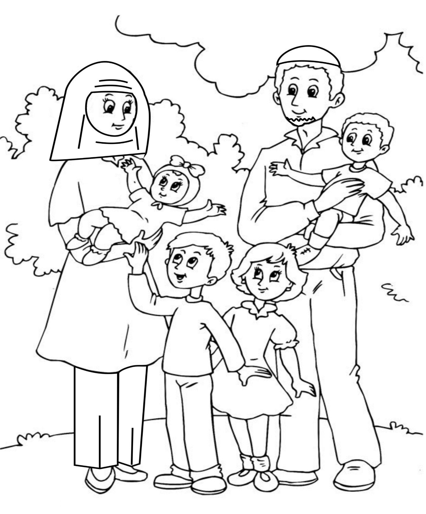 1480x1785 Image Result For Coloring Pages Family Free Pre K Houses