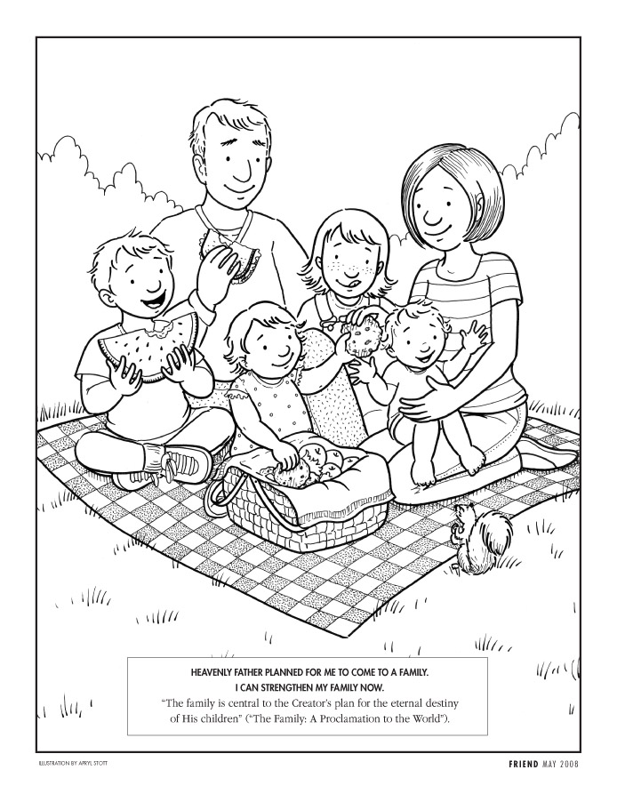 694x902 Family Coloring Page Lds Lesson Ideas