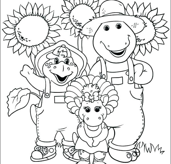 600x576 Baby Bop Coloring Pages Barney And Baby Bop Coloring Sheets March