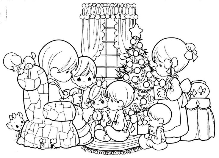 Family Christmas Coloring Pages