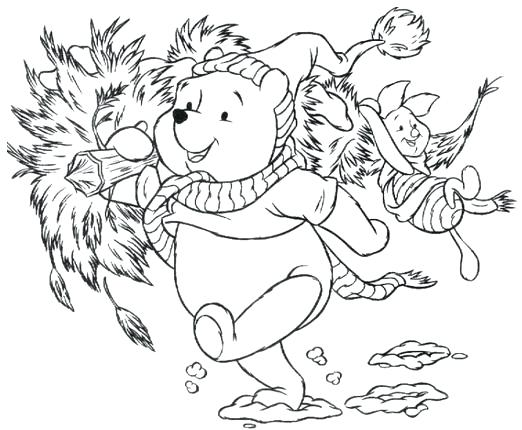 522x430 Free Printable Winnie Pooh Christmas Coloring Pages My Family Fun