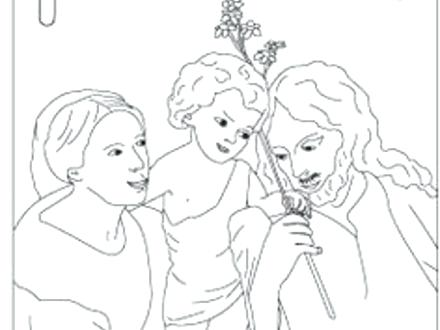 440x330 Holy Family Coloring Page Holy Family Coloring Page Family
