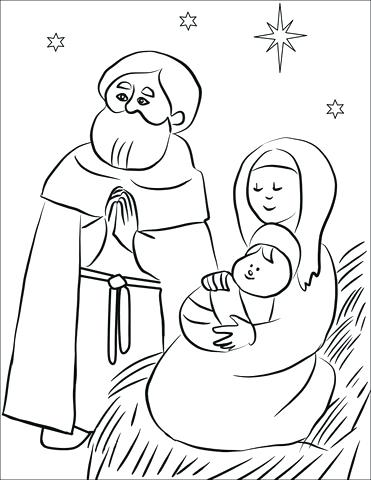 371x480 Holy Family Coloring Pages Holy Family Coloring Page Holy Family