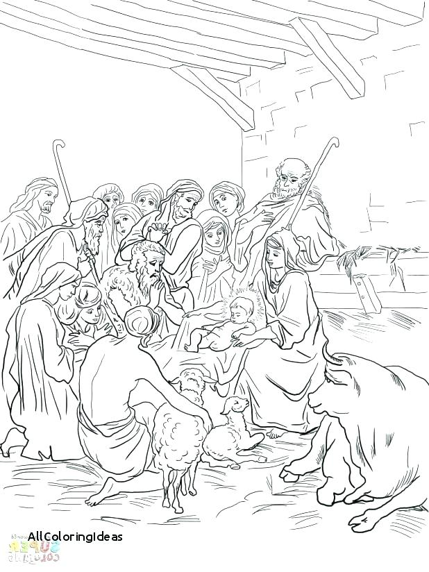 618x824 Holy Family Coloring Pages Saint Seated In The Creche Coloring