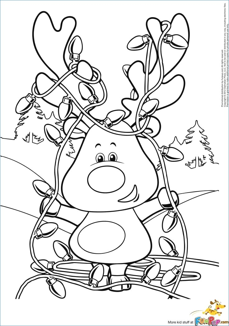736x1046 Rudolph Reindeer And Family Coloring Page