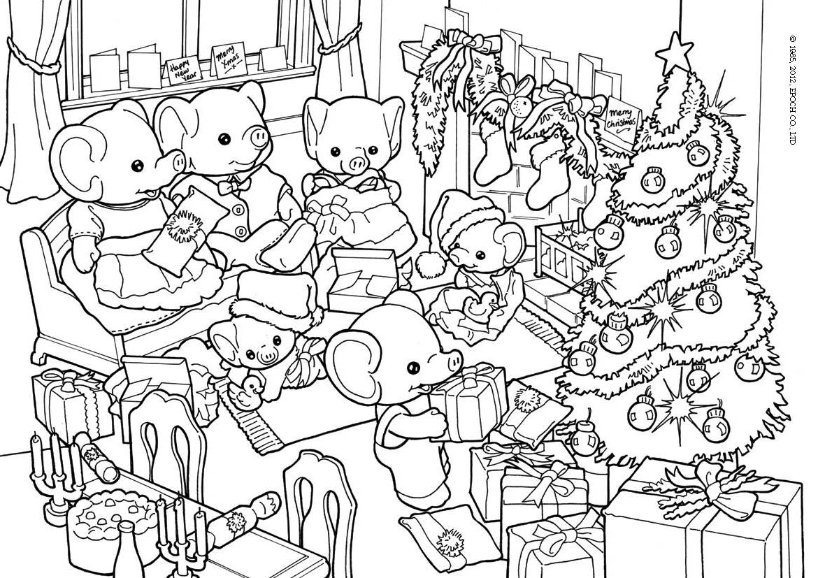 1170x827 Sylvanian Families Coloring Pages