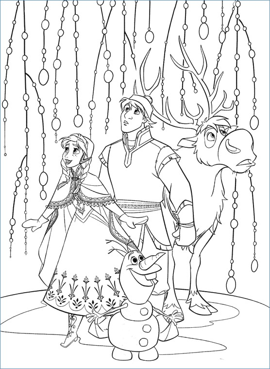 556x759 Christmas Tree And The Family Christmas Coloring Page