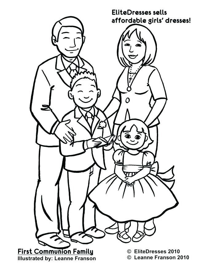 671x868 Family Coloring Pages Coloring Pages Of A Family Preschool Family