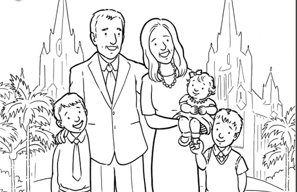 600x389 Family Members Coloring Pages, Family Family Members Colouring