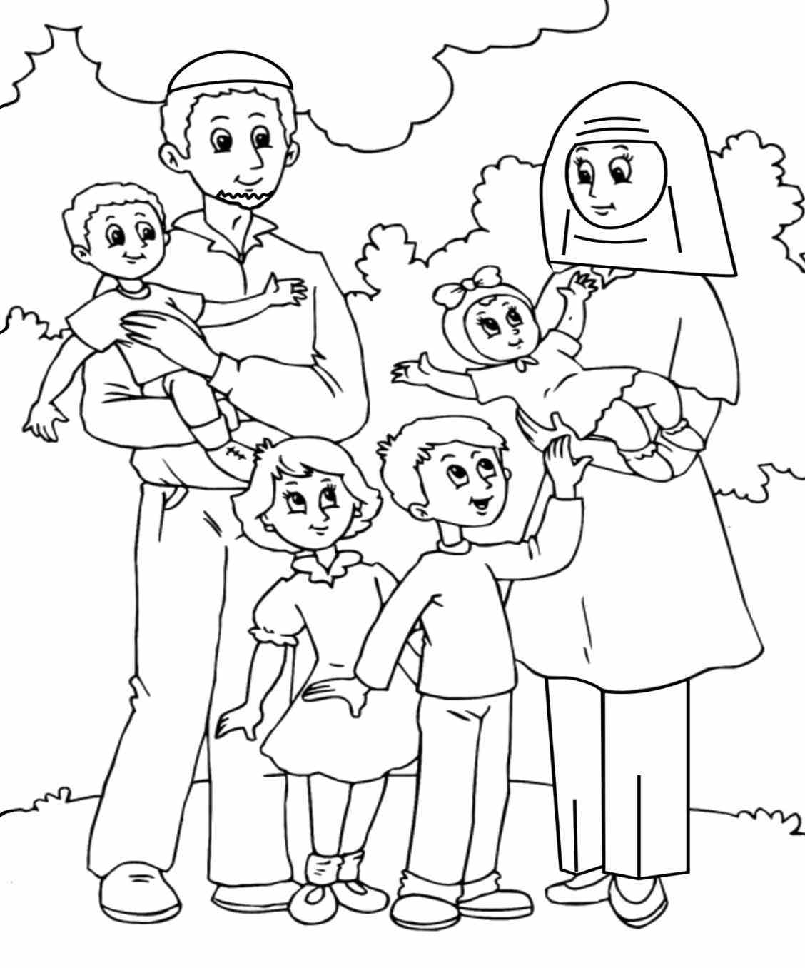 1128x1356 Fortune Family Coloring Pages Printable Page Pages Of A Family