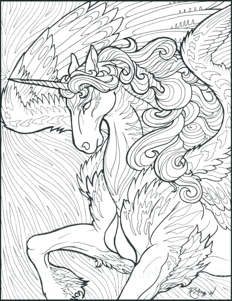 740x960 Unicorn Family Coloring