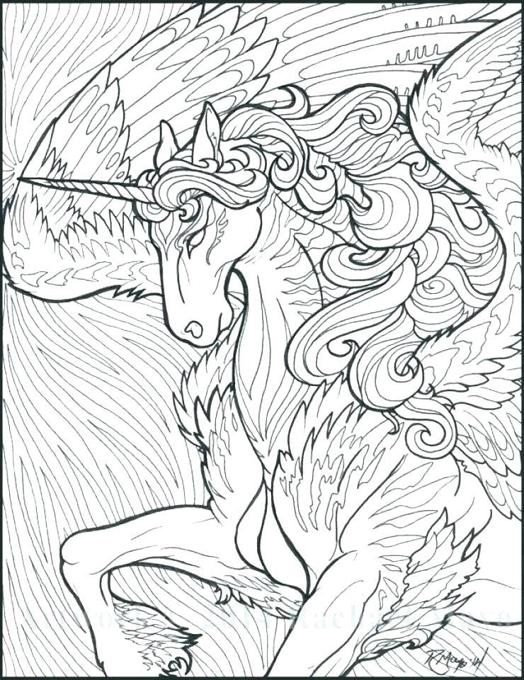 740x960 Unicorn Family Coloring