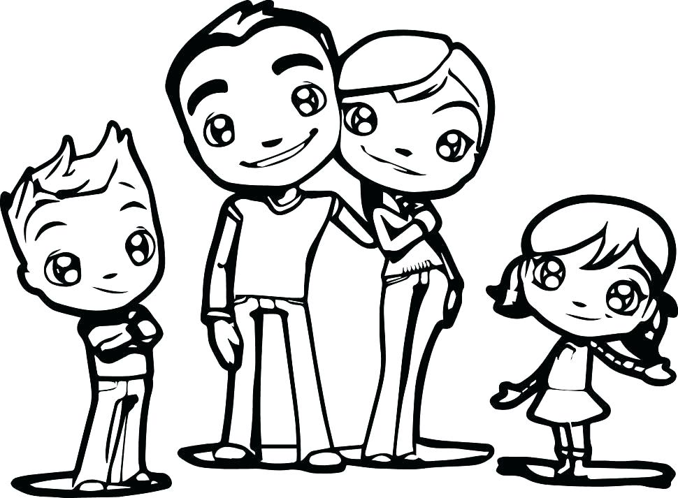 970x713 Coloring Pages Family Family Coloring Pages Holy Family Coloring