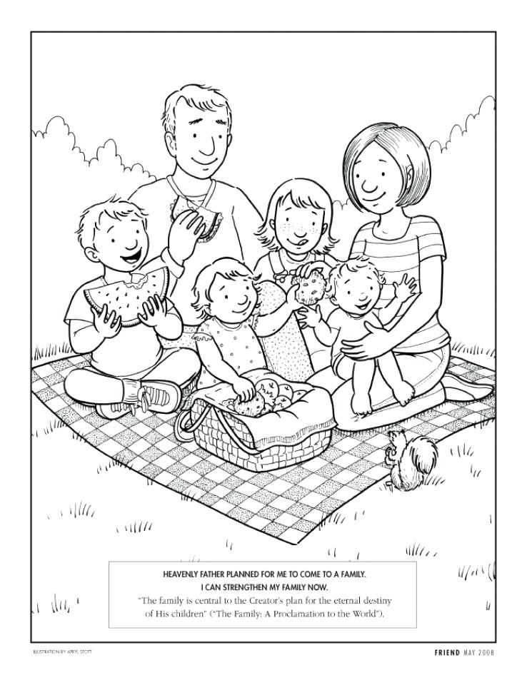738x960 Family Coloring Pages For Kids Printable