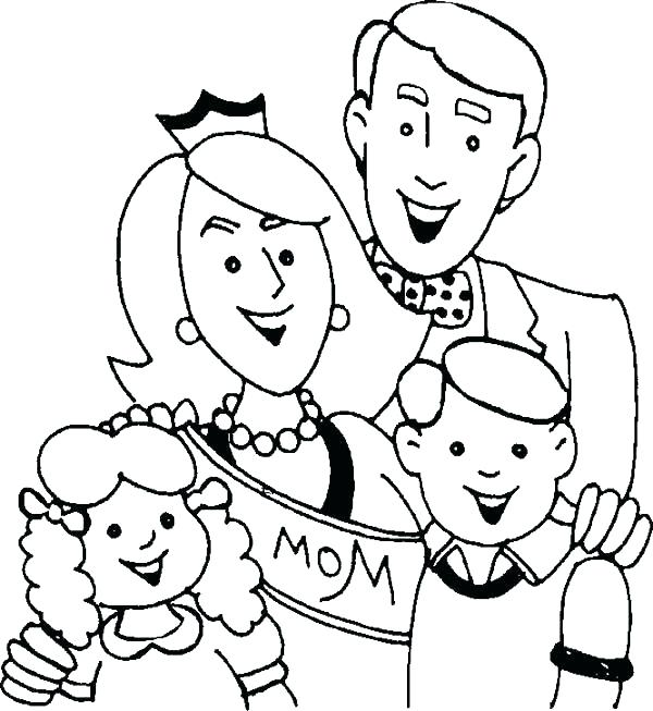 600x653 Family Coloring Pages Inspirational Family Coloring Pages