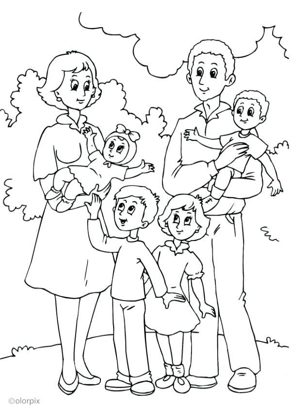 600x846 Family Coloring Pictures Family Coloring Page New Family Coloring