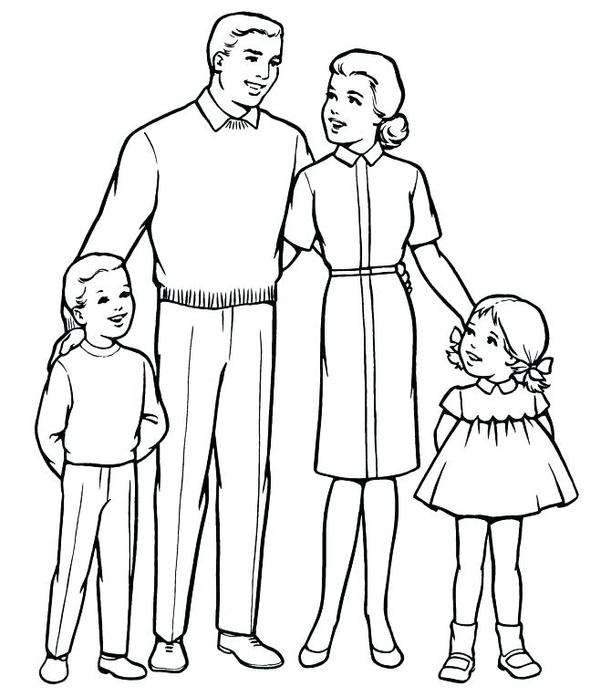 670x764 Holy Family Coloring Page Family Coloring Pages With Simple Joint