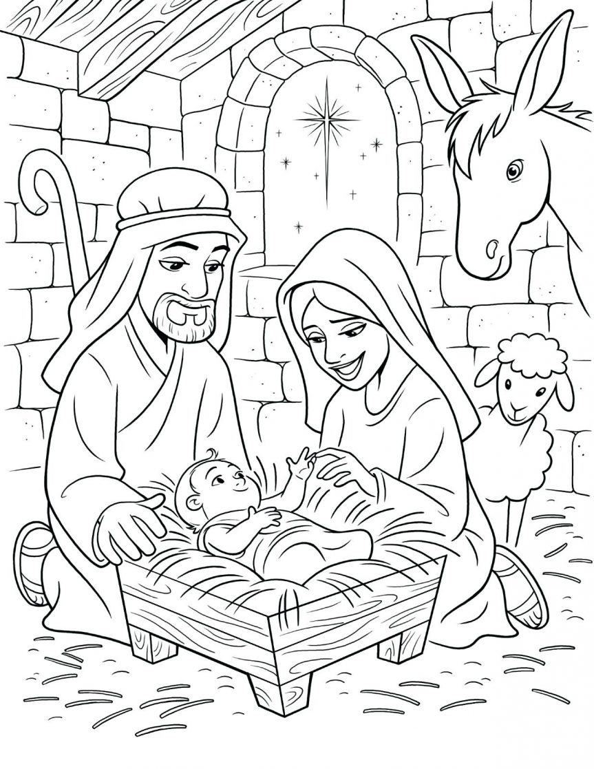 863x1117 The Holy Family Coloring Pages To Print Coloring For Kids