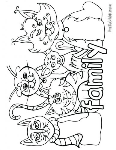 387x500 Coloring Pages Family Coloring Pages Awesome My For Kids