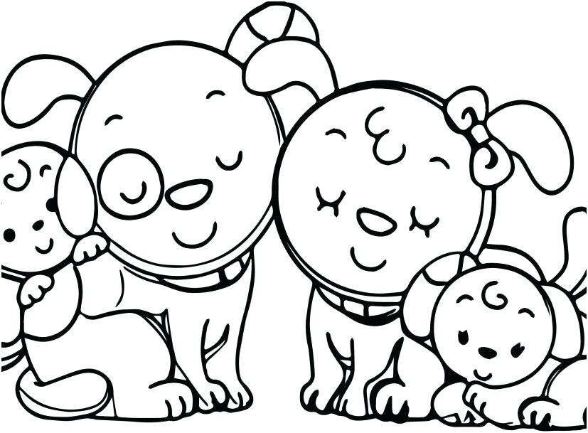 827x609 Family Coloring Pages Animal Dog Family Coloring Page Pages Animal