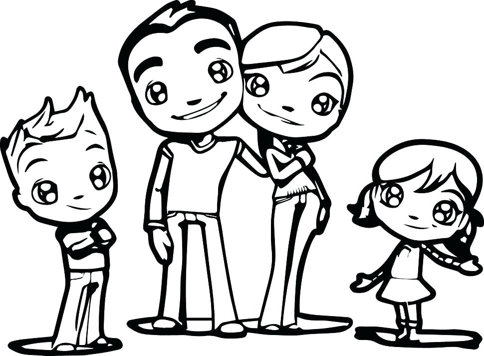 970x713 Family Picture Coloring Proud Family Coloring Pages Family