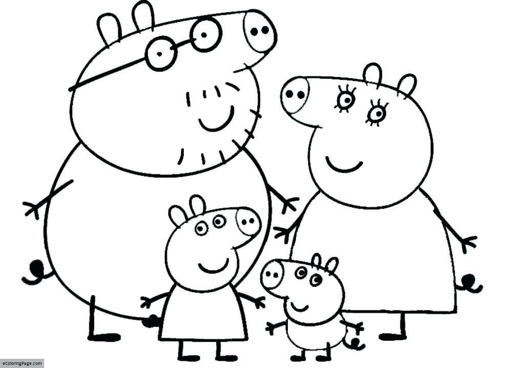 990x718 Peppa Pig Coloring Pages Easter Pig And Family Coloring Page
