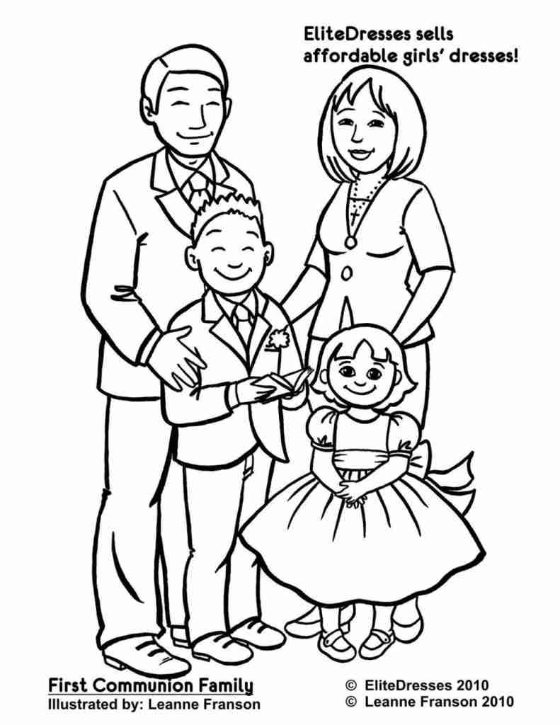 791x1024 Peppa Pig S Family Coloring Page Free Printable Pages Showy