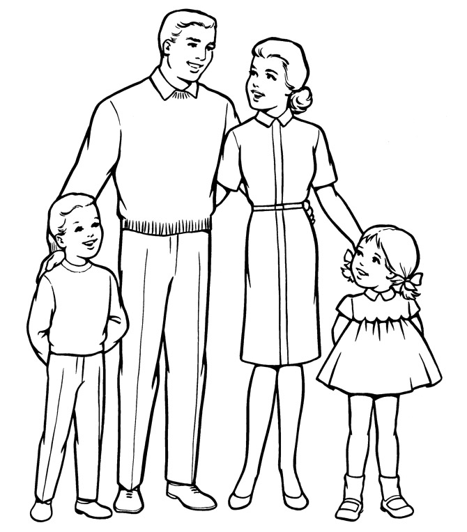 670x764 Houses Coloring Pages Printable Family People And Jobs Coloring