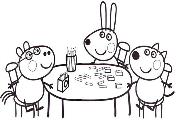 Family Dinner Coloring Pages