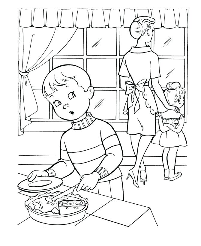 670x820 Honesty Coloring Page Thanksgiving Dinner Coloring Page Sheets Boy