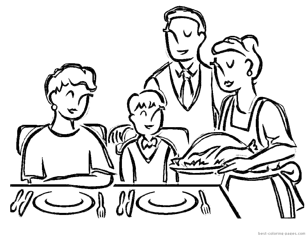 1056x816 Thanksgiving Cooked Turkey Coloring Pages