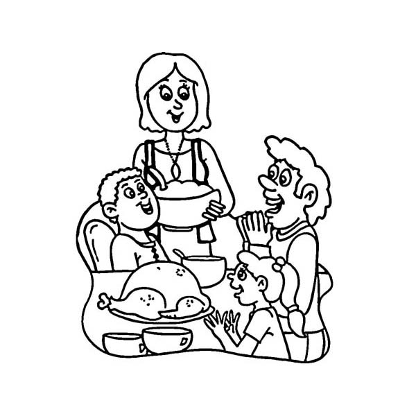 600x600 Thanksgiving Day Around The World Coloring Page