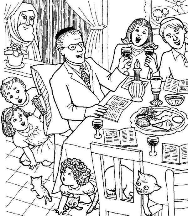 600x689 Celebrating Passover With Whole Families Coloring Page