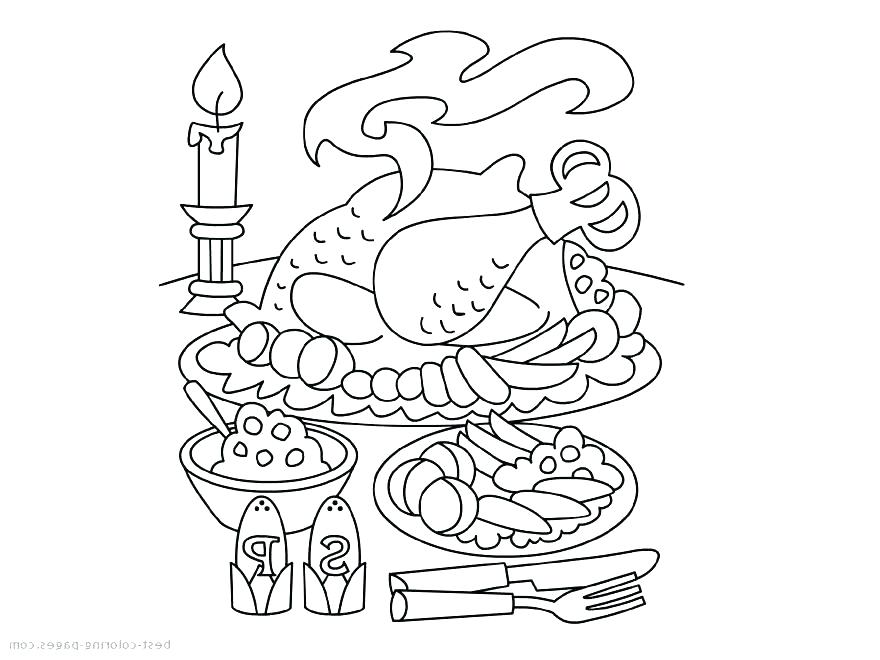 880x660 Thanksgiving Dinner Coloring Pages Coloring Pages Thanksgiving