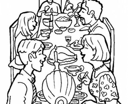 410x332 Family Coloring Pages Free Family Coloring Pages