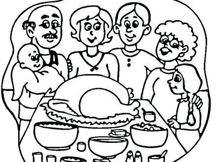440x330 Thanksgiving Dinner Coloring Pages Coloring Ideas Pro