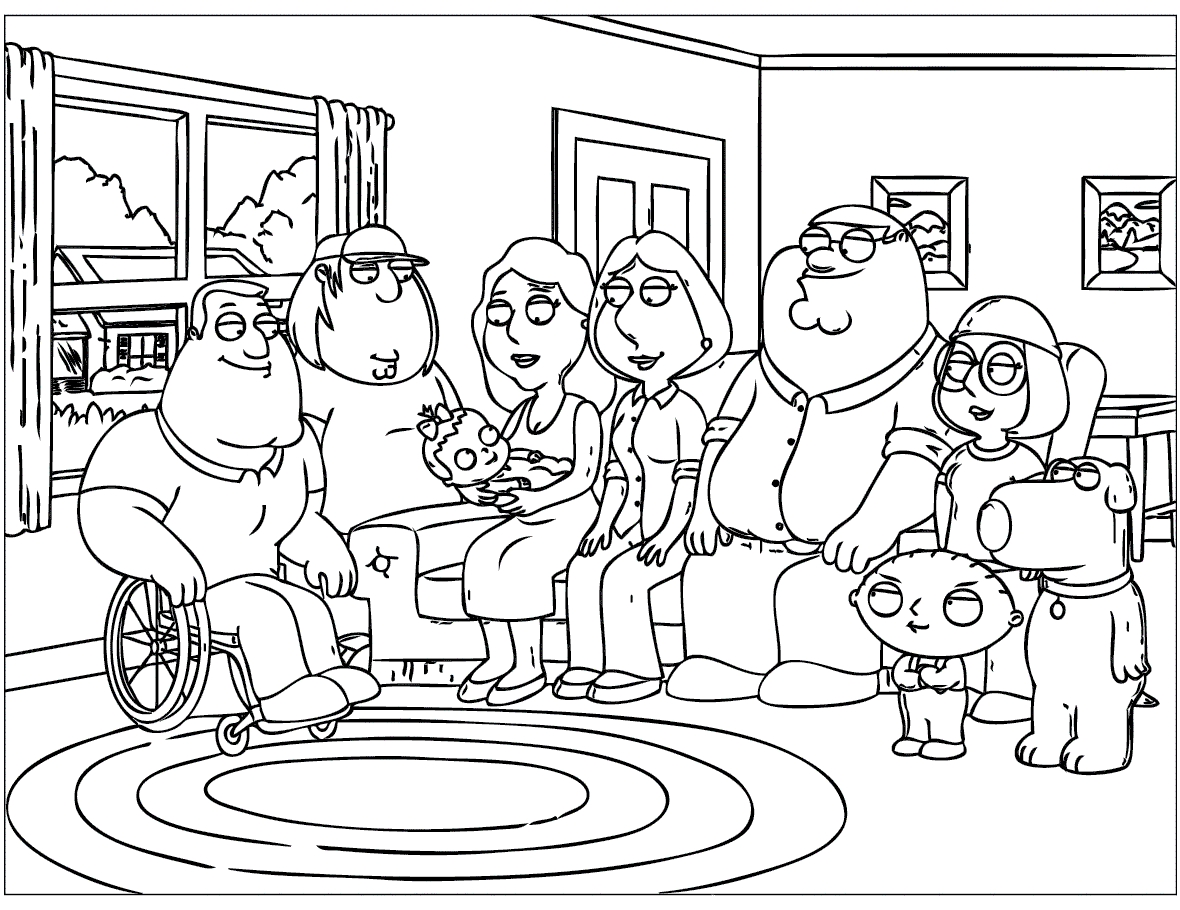 1180x910 Printable Family Guy Coloring Pages