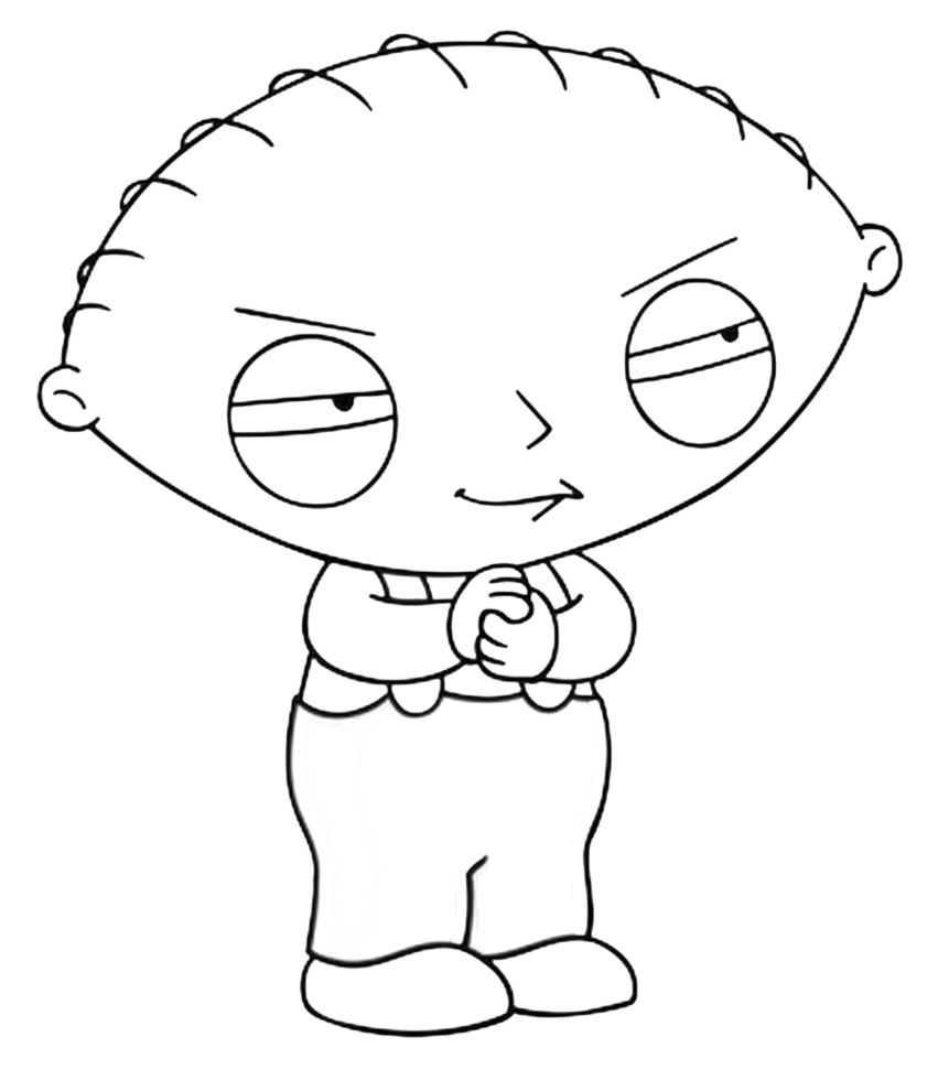 851x990 Awesome Free Family Guy Free Coloring Pages Printable Colouring
