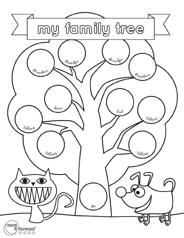 612x792 Family Tree Coloring Page Family Tree Coloring Family Trees