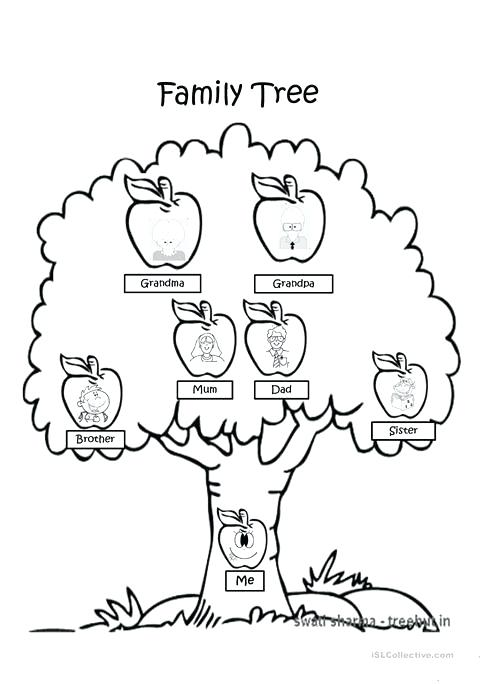 483x684 My Family Tree Colouring Pages Family Tree Coloring Page Worksheet